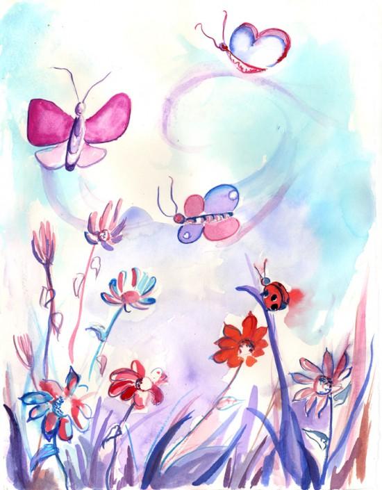 flori roz mov