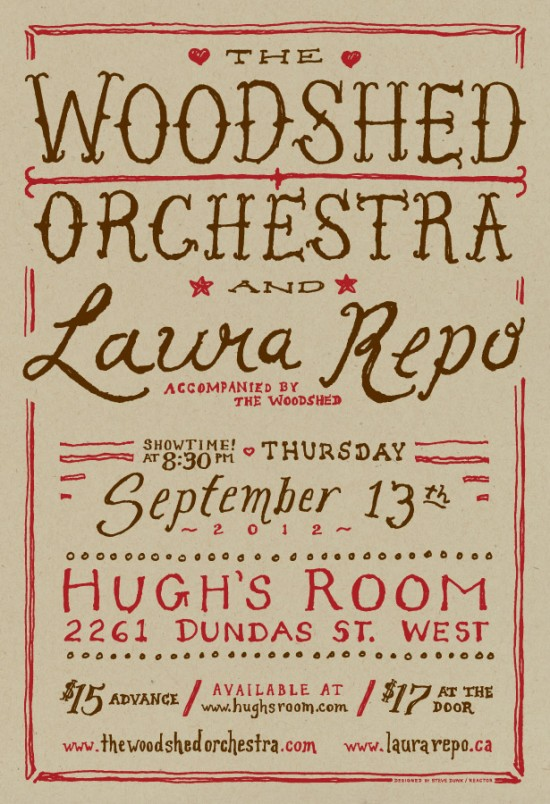 The Woodshed Orchestra and Laura Repo